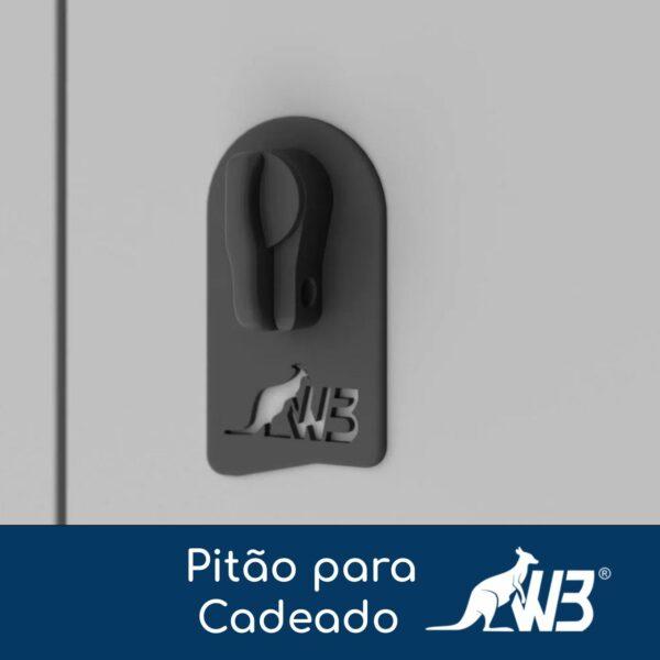 14195752451 pitao 19 Roupeiro de Aço c/ 04 Portas Pequenas - 1,82x0,32x0,42m - CZ/CZ - W3 - 10016