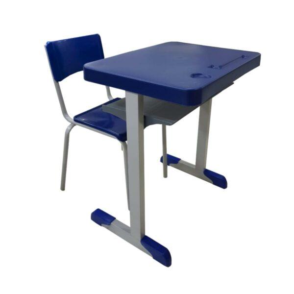 13520030549 escolar Conjunto Escolar c/ apoio para livros – (Mesa e Cadeira) – JUVENIL 06 a 09 Anos – REALPLAST – 40999