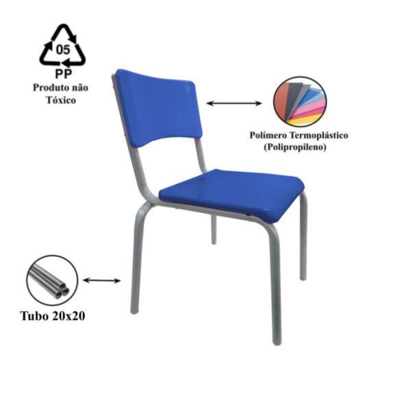 13536703957 cad Conjunto Escolar c/ apoio para livros – (Mesa e Cadeira) – JUVENIL 06 a 09 Anos – REALPLAST – 40999