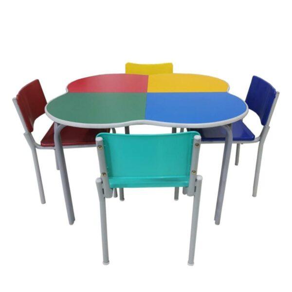 cad Conjunto TREVO c/ 04 Cadeiras - FORMICADA - JUVENIL 06 a 09 Anos - MR PLAST - 41093